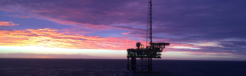 Gas rig in the Southern North Sea